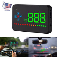3.5inch Digital Car GPS Speedometer Head Up Display Overspeed Tired Warning HUD