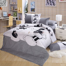 Batman Quilt Duvet Doona Cover Set Queen Size Bed Linen Animal Pillow Cases