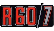 """Aufkleber """"R 60/7"""" für BMW R 60 /7 R60/7 Emblem rot - silber f. Seitendeckel neu"""