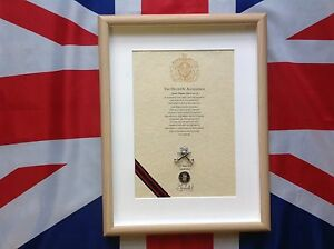 RAPTC Oath Of Allegiance With Cap Badge And Sovereign's Shilling