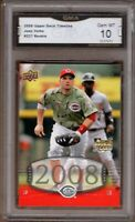 GMA 10 Gem Mint JOEY VOTTO 2008 UD Upper Deck Timeline ROOKIE Card !