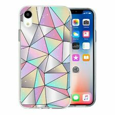 For Apple iPhone XR Silicone Case Bling Geometric Diamond Pattern - S662