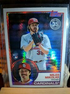 MILES MIKOLAS 2018 Topps Update SILVER PACK 1983 Chrome Ref CARDINALS RC #148