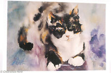 Cat Note Cards WaterColor Kitty Samantha by Martha Vergine Oregon 20 Ct New 9704