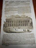 1834 BORSA DI PARIGI SFIDA DI BARLETTA EBREI IN EGITTO MAR ROSSO RETTILI ROSPO
