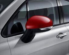 FIAT 500x COPPIA Ala Porta Specchio Copre Tappi di supporto NUOVO E ORIGINALE ROSSO 50903553