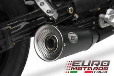Moto Guzzi V9 Bobber /Roamer 16-17 Zard Terminali Scarico Big Ceramico Nero