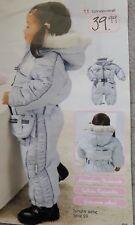 Schneeanzug hellblau mit Fellkragen ~ Klitzeklein ~ Gr. 74 wie Neu & zauberhaft