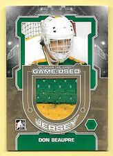 12/13 Between The Pipes Gold Parallel #4 Don Beaupre 2 Color Jersey Card SP/10