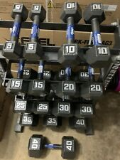 NEW HEX DUMBBELLS. PICK PAIR OF 5,10,15,20,25,30,35,40,45 or 50 Lbs. SHIPS FREE!