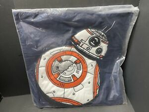 "20"" Pottery Barn Kids STAR WAR BB-8 Droid PILLOW COVER Bed Valentine Gift NEW"