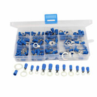 132Pcs Insulated Ring Crimp Terminal Set Electrical Wiring Connector Assort Kit