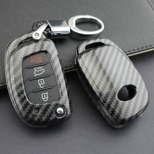 USA Fit Hyundai Sonata Tucson Carbon Fiber Remote Key Fob Hard ABS Case Cover