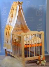 Kinderbett-Set 11Teilig Gitterbett, Babybett, Massivholz, Matratze, Farbauswahl