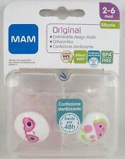 MAM ORIGINAL n°2 Succhietti mesi 2-6 ciuccio rosa frutta box sterilizzazione