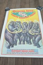 "Reproduction of original 1899 Ringling Bros. ""Elephant Brass Band"" poster,37x50"