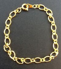 1x GOLD PLATED LINK BRACELET CHAIN