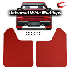 Wide 1Pair Universal Car Truck SUV Front Rear Fender Mud Flaps Basic Red W/Clips