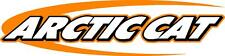 "Arctic cat swoosh snowmobile sticker decal 22"" orange"