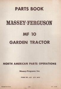 Massey-Ferguson MF 10 MF 12 Lawn & Garden Tractor Operator Instructions Maint, S