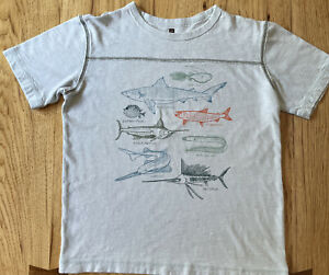 Tea Collection Boys Deep Sea Fish T-Shirt Size 12