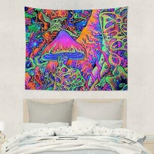 Hippie Tapestry Trippy Mushroom Tapestry Wall Hanging Psychedlic Art U0X6