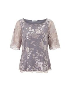JACQUES VERT SEQUIN AND LACE JERSEY TOP SIZE 12