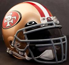***CUSTOM*** SAN FRANCISCO 49ers NFL Riddell Deluxe REPLICA Football Helmet