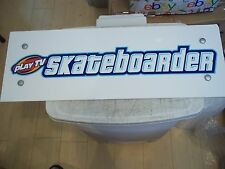 "Skateboarder 23""X8"" Laminated Foam Board Display Sign Playroom Mancave Arcade"
