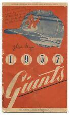 Willie Mays Signed 1957 New York Giants Program Vintage Autograph JSA