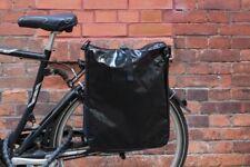 Fahrradtasche Gepäckträgertasche Satteltasche LKW Plane NEUES MODELL Schwarz