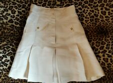 ESTATE SALE, VINTAGE Chanel Boutique  'CC' Button Pleated Skort Custom Made
