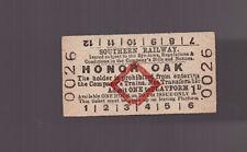 Southern Railway Platform Ticket - Honor Oak - Dated 1951
