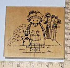 Garden Country Cutie Embossing Arts Wood & Foam Rubber Stamp