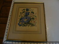 FRAMED VINTAGE PRINT: Morning Glory & other flowers by Day & Haghe c. 1850s