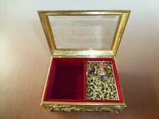 Vintage Enamel Butterfly Automaton Music Box Jewelry Box (Watch The Video)