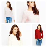 Ladies Ex H&M Bottom Cut Cable Knitted Tops Full Sleeves Womens Jumper Sweater