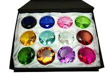 Tripact 50mm Diamond Jewel Paperweight Round Cut Box Set 12pcs