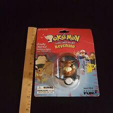 Pokemon Eevee Figure Keychain Pokeball Basic Fun 1999 753-0 New