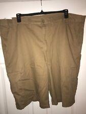 NWT Mens Wrangler Cargo Shorts Size 46 Brown