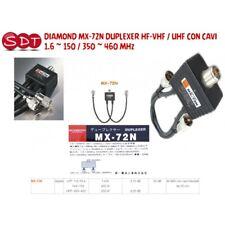 Diamond Mx-72n Duplexer Hf-vhf / UHF avec Câbles 1.6 150/350 460 MHz