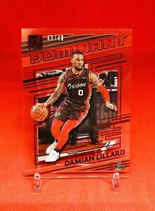 2020-21 Clearly Donruss Damian Lillard Dominant RED SSP /49 Color Match 🔥