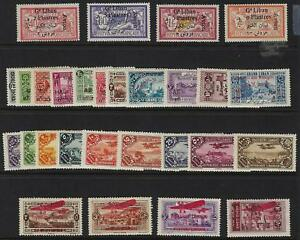 LEBANON 1924 30 FOUR COMPLETE MINT SETS SG 54 71 79 90 141 44 181 190 HINGED