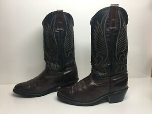 VTG WOMENS UNBRANDED COWBOY BROWN BOOTS SIZE 6.5 D