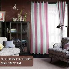 Stripe Shading Window Curtain Drapes Purdah for Home Living Room