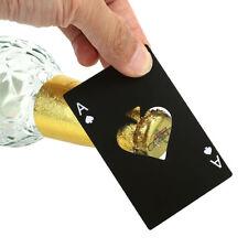 Novelty Ace Of Spade Card Beer Bottle Opener Stainless Steel Metal Fit in Wallet
