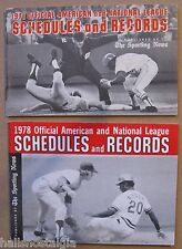 (2) TSN Official American & National League Schedules and Records: 1971 & 1978