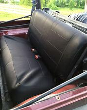 1997-2006 Jeep Wrangler TJ Custom Rear Neoprene Seat Covers black R97Blk