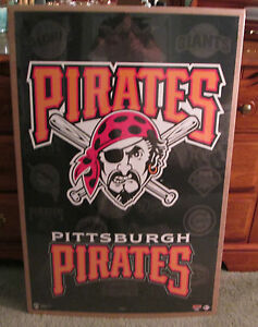 HUGE PITTSBURGH PIRATES JOLLY ROGER SHRINK WRAPPED POSTER MAN CAVE