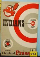 1952 Cleveland Indians Baseball Program v White Sox Scored C427